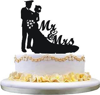 Funny cake topper,police Groom wedding cake topper,Mr & Mrs cake topper for cake decor