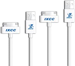 iXCC [2 Packs] 10ft Extra Long 30 Pin to USB SYNC and Charge Cable Cord for Apple iPhone 4/4s, iPod 1-6 Gen, iPod 1-4 Gen, iPad 1-3 Gen