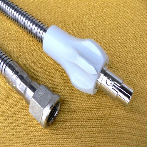 200 cm Gasschlauch Allgasschlauch 2x Edelstahl VA/VA nach DIN3383-1 und DVGW Gassicherheitsschlauch