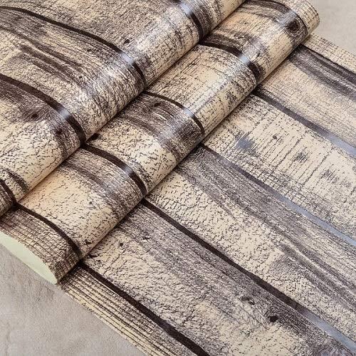 Jidan Moderne Tapete, TV-Hintergrund, Wohnzimmer-Wandpa, Vintage-Paletten-Holztapete, 3D-Holzplatten, Wandtapete, Vinyl-PVC-Holzdielen, Wandverkleidung (Farbe: W52101, Maße: 10 m x 53 cm)