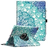 Fintie Case for iPad Pro 9.7-360 Degree Rotating Stand Protective Cover with Smart Stand Cover Auto Sleep/Wake Feature for iPad Pro 9.7 Inch (2016 Version), Emerald Illusions