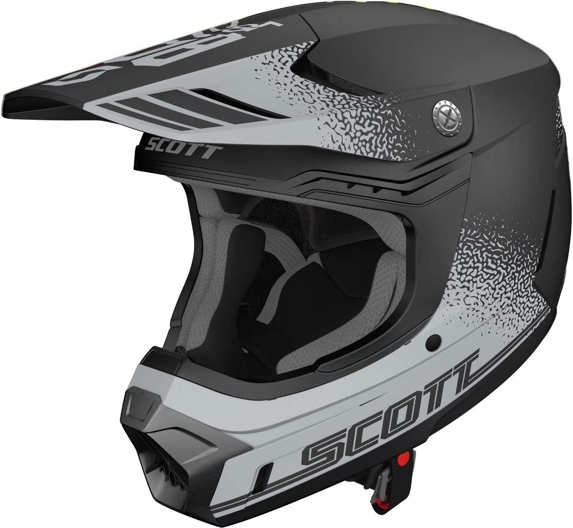 Scott 350 Evo Plus Retro Mx Enduro Motorrad Bike Helm Schwarz Grau 2020 Größe S 55 56cm Auto
