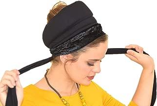 Sara Attali Design BoboBand, Big Volume & Non-Slip Headband Great under Headband Tichel Black