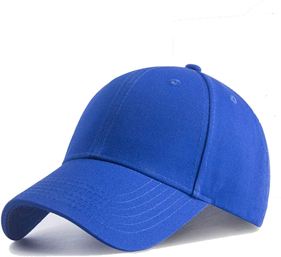 Plain Baseball Cap Snapback for Men and Women - Classic 6 Panel Adjustable Sport Casual Sun Visor Hat