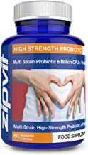 Probiotic 6 Billion Multi-Strain Live Bio Cultures Complex with Prebiotic, 60 Vegetarian Capsules. 100 Billion CFU Source Powder.