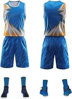 Hplights Men`s Basketball Jerseys - Dragon Ball Series Basketball Mesh Jersey Sport Vest Top Sleeveless T-Shirt Short 2 Pi...