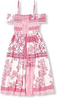Girls' Big Graphic Cold Shoulder Maxi Dress