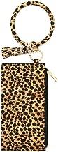 Joyful Leopard Bracelet Keychain Hang Wallet Coin Purse Clutch Comstic Makeup Bag Tassel Wristlet Keychain