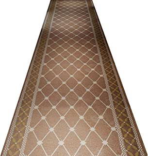 QiangDa Hallway Runner Rugs Trellis Pattern High Density Knitting Non-woven Bottom Wear-resisting Durable Vacuuming, Thickness 8mm (Color : 2#, Size : 1m x 5m)