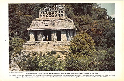 Great Features Of Print Ad 1942 Masterpiece of Maya Masons, the Crumbling Roof Comb Soars above