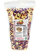 2 lb - ORGANIC, Heirloom Multi-colored Popcorn Kernels - Low Calorie High Fiber Snack Perfect Movie Night - All Natural, V...