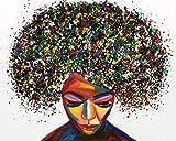 CloudShang Graffiti Arte Novela Abstracto Mujer Poster Feminismo Pintura Africano Mujer Pared Arte Impresiones Chica Regalo Mujer Dormitorio Pared Poster Feminismo H24129