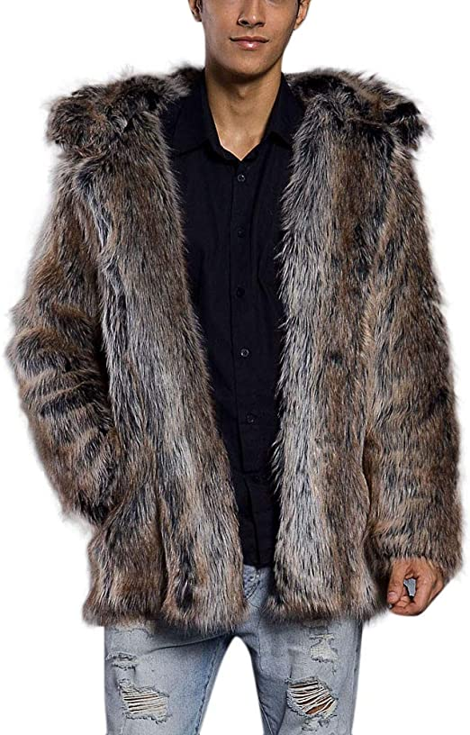 Womens Mid-long Thicken Leopard Fox Fur Collar Genuine Winter Warm Parka Jacket