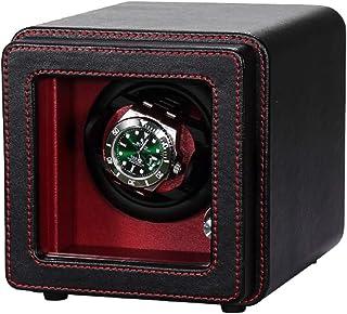 ساعة واحدة فاخرة أوتوماتيكية، مع محرك هادئ، جراب صندوق عرض من الجلد الصناعي [صناعة يدوية 100%]