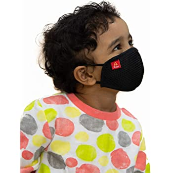 Toytle Anti-Pollution Kids Mask 4 Layer Cotton Washable/Reusable Mask For Kids Make In India Initiative (Pack of 2 Pieces) Age - 3 To 5 Years, From ISO 9001 & CE & GMP Certified Company.
