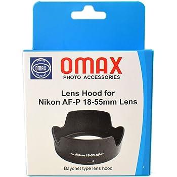 Omax Lens Hood for Nikon d3500/d3300/d3400 /d5300/d5600 af-p 18-55mm vr Lens (Bayonet Type Lens Hood)