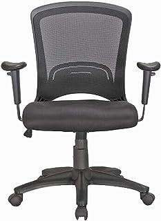 HFTEK Silla de oficina, silla de escritorio, silla giratoria, silla de trabajo con reposabrazos, para casa, oficina y lugar de trabajo, color negro (FYI007S)
