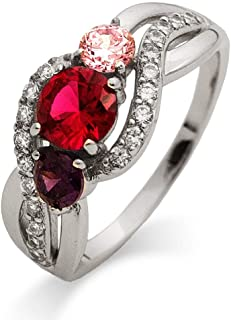 initial and birthstone ring