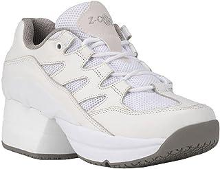 حذاء التنس الجلدي للسيدات من Z-CoiL لتخفيف الآلام مقاوم للانزلاق مع لف فوشيا