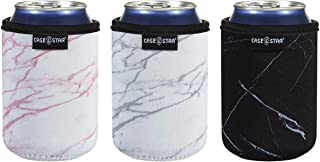 Case Star 12 Ounce Standard Can Sleeves Insulators Standard Can Skin Covers Holder 12 Ounce Beer Bottle Sleeves Standard Can Holder Coolies Beer Can Cooler Wedding Can Sleeves- Marble 3pcs Set