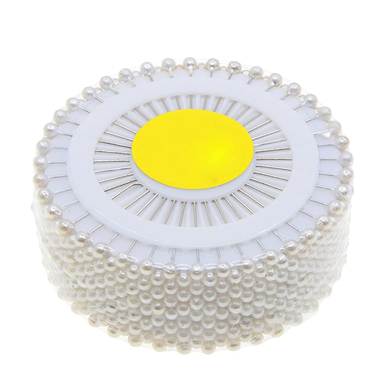 Saim 480pcs Decorative Round Faux Pearl Head Corsage Sewing Pins Straight Dressmaking Pins