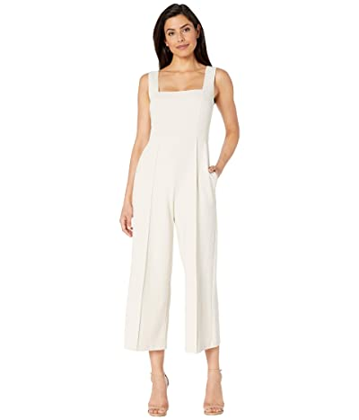 Donna Morgan Squared Neck Cropped Wide Leg Jumpsuit (Horn) Women