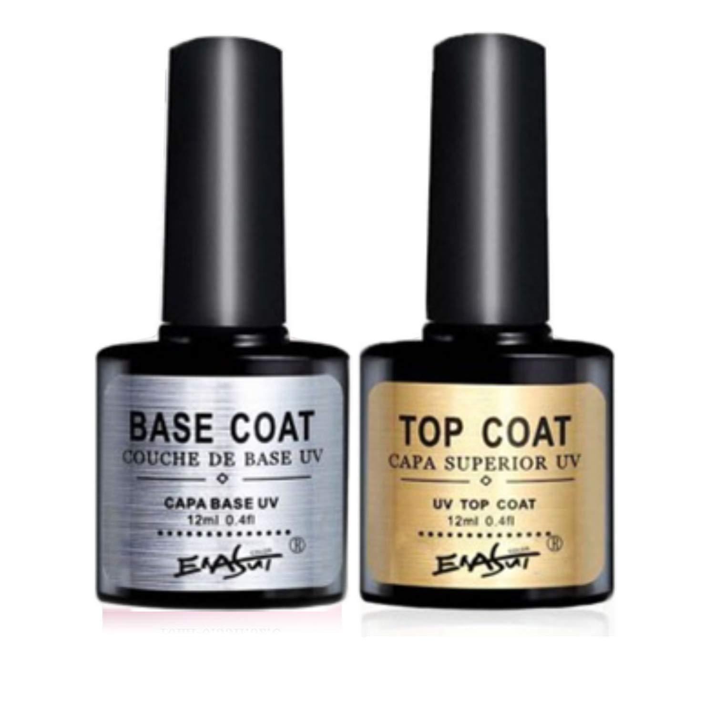 12ml Lowest price In stock challenge 2Pcs Set Base and Top Coat Soak Nail Off Bon UV LED Gel