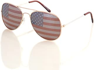 Aviator USA America American Flag Sunglasses - Great Accesory for 4th of July
