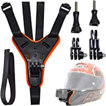 Motorcycle Helmet Chin Mount for GoPro, Full Face Helmet Jaw Mount Holder Strap with Extension Swivel Arm Kits Compatible with GoPro Hero 7/6/5 Action Cameras