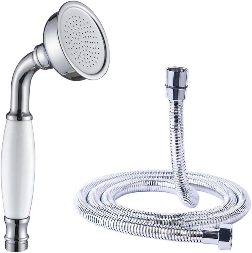 Golden Brass/&Ceramics Handheld Telephone Style Shower Head Handheld Sprayer