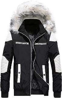 Daoroka Men Winter Warm Long Jacket Thick Fur Hoodies Coat Long Sleeve Pockets Fashion Casual Cool Outwear Tops