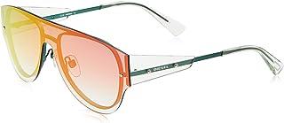 نظارات شمسية بيضاوية للجنسين من ديزل - عدسات باللون الاحمر DL0273-77U