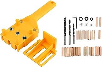 Nitrip Woodworking Dowel Jig Perforaci/ón de agujeros de madera Gu/ía de perforaci/ón Localizador Regla de posicionamiento