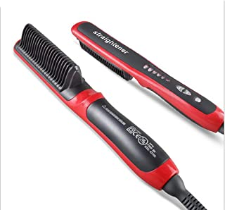 Hair Straightener LL Durable Electric Straight Hair Comb Brush LCD Heated Ceramic Hair Straightening Brush