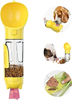 Pexmmy Dog Water Bottle with Filter, Leak Proof Dog Water Dispenser with Drinking Bowl, Food Grade Material, Lightweight P...