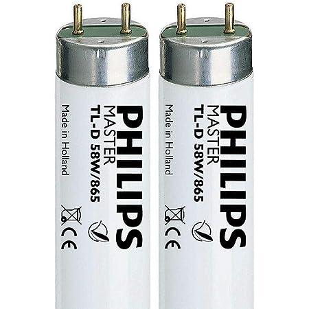 Philips Lot de 2 tubes fluorescents T8 58 W 865 1500 mm/150 cm (G13) 6500 K SAD
