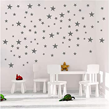 Stars Pattern DIY Wall Stickers Removable Home Decoration Metallic Vinyl Polka Wall Decor Sticker for Baby Kids Nursery Bedroom 130 Decals Haawooky Gold Stars Wall Decal