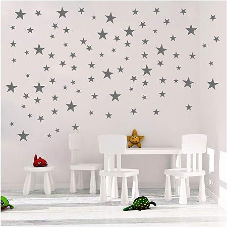 5Multi-sized Star Wall Stickers Baby Room Bedroom Art Mural  Decor DIY