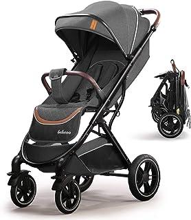 Carrozzina Regolabile Passeggino Leggero Compatto per Bambini fino a 3 Anni Carrello Pieghevole con Una Mano con Ruote in ...