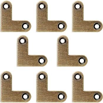8 staffe angolari piatte a forma di L ad angolo fisso Tiazza per cassetti in ottone anticato