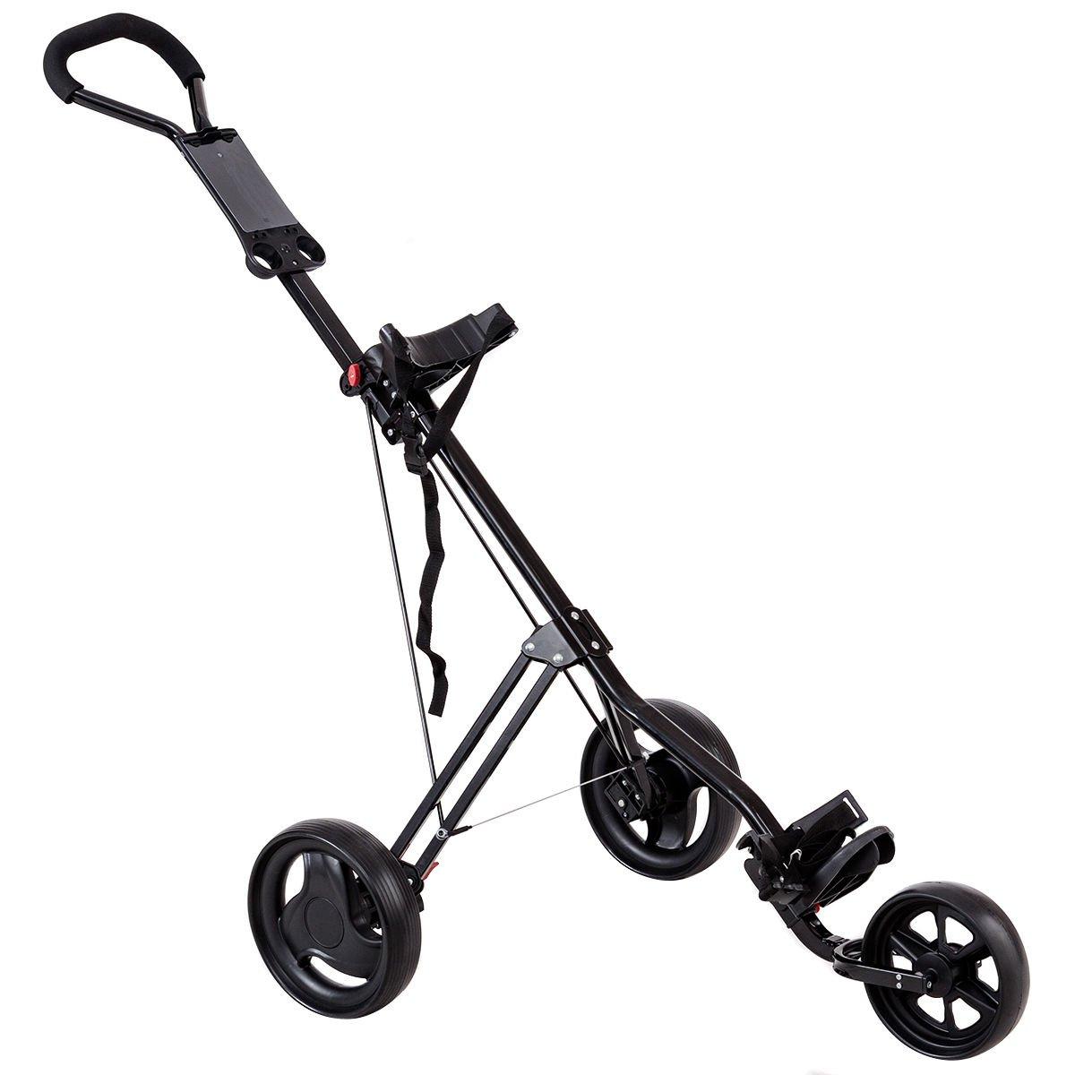 Tangkula Foldable Lightweight Wheels Trolley