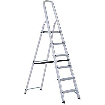 Svelt 6452400055 Escalera Aluminio Domestica 5 Peldaños 1.25 H@, Multicolor: Amazon.es: Bricolaje y herramientas
