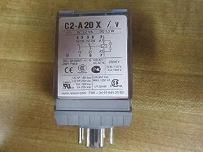RELECO C2-A20X/DC24V Relay, 10AMP, 8PIN, Coil 24VDC, W/LED