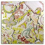Toga CH63Giardino Segreto–Set di 31chipboards Stampati Cartone Multicolore 11x 14,5x 1,5cm