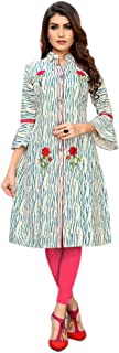 The kurti bazaar Wedding Special Multi Design Cotton & Printed for Ready to wear for Women