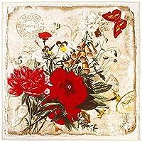 スシルクスカーフ 100%シルクスカーフ女性ショールの花スカーフ レディー 暖かい スカーフ (色 : YELLOW)