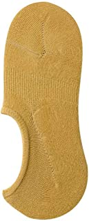 Fashion Non-Slip Silicone Solid Color Ladies Boat Socks Cotton Female Socks-6 Packs Spring and Summer New Women's Socks,Durability (Color : Yellow)