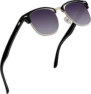 6d60a250e1 VVA Gafas de sol polarizadas clásico retro medio marco para Hombre y Mujer  V1002