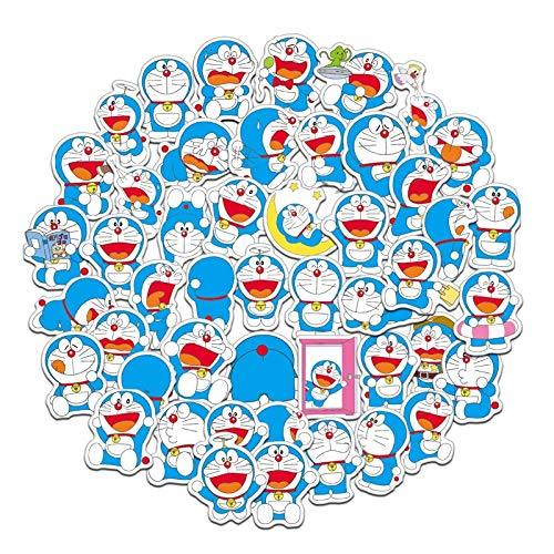 ZXXC 61Pcs/Pack Japanese Anime Doraemon Stickers For Cars Motorcycles Water Cups Children'S Toys Luggage Skateboards Computers