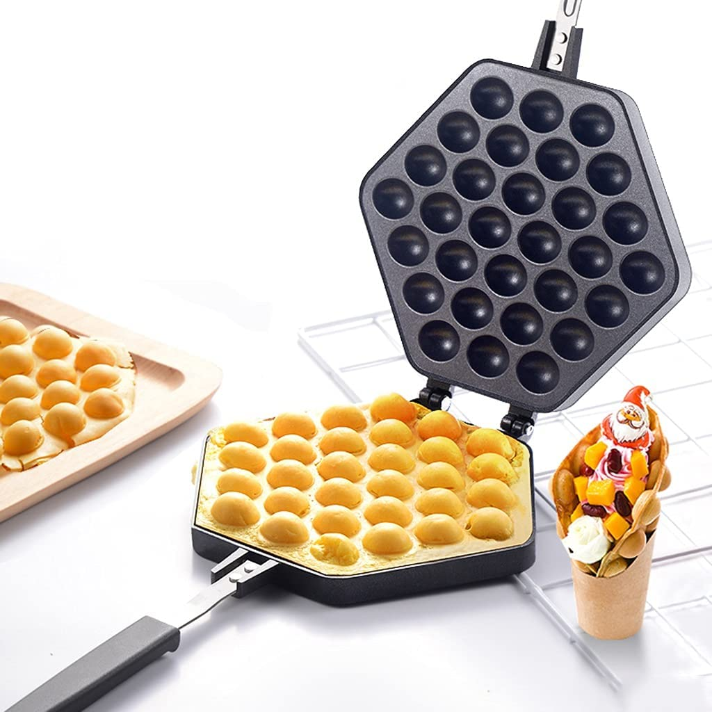 Egg Waffle Pan Aluminum Makers Stovetop Cake Non-stick Max Max 86% OFF 74% OFF